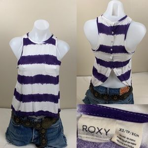 Roxy Top Striped Tank Top Surfs Up